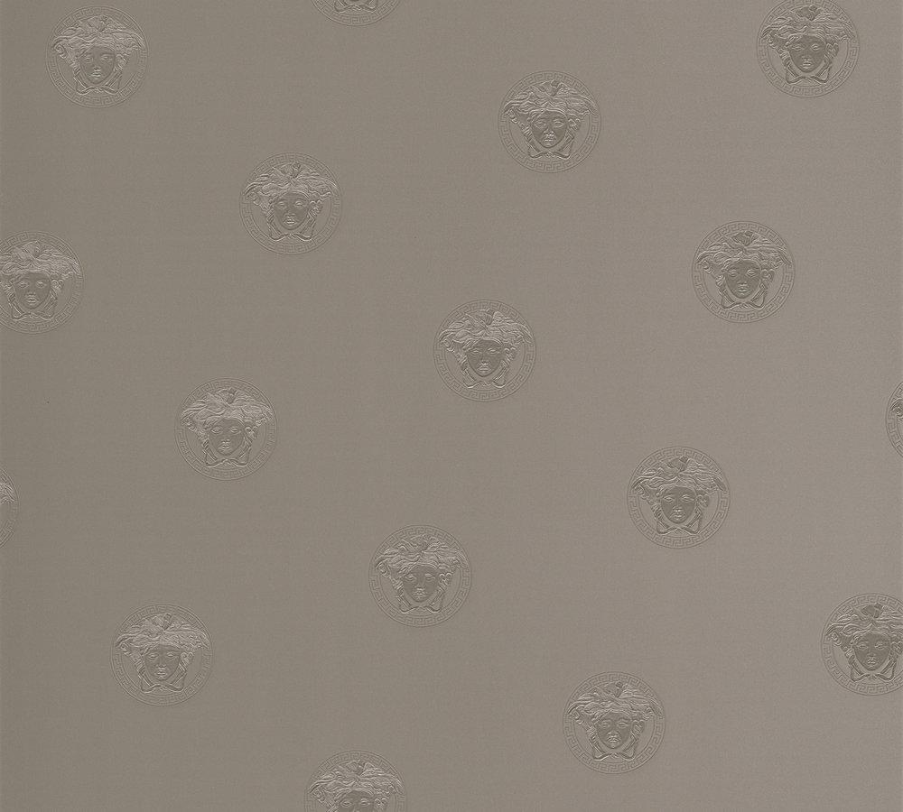 Versace Home Wallpaper Medusa Silver Grey Gloss 34862 3