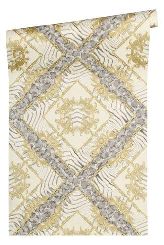 Versace Home Tapete Ornament Zebra beigegold Glanz 34904-2 online kaufen