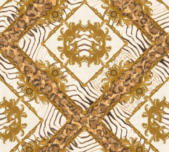 Versace Home Wallpaper zebra ornament brown gloss 34904-3 online kaufen