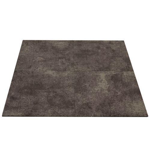 Gewerbe Teppichfliesen Beton-Optik Teppich braun 50x50cm