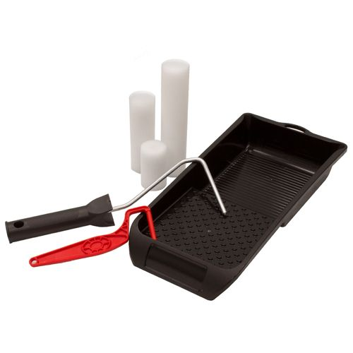 Set of 3x Lacquer Sleeve 2x Paint Roller Frame 1x Paint Tray online kaufen