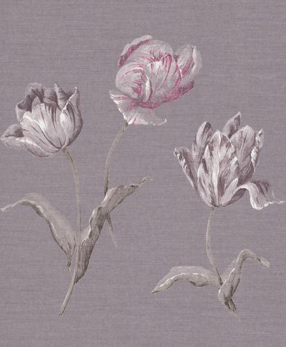Tapete Vlies Rasch Textil Floral Natur fliedergrau 227566