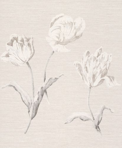 Wallpaper Rasch Textil floral natural grey white 227597 online kaufen
