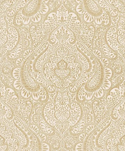 Wallpaper Rasch Textil ornament white metallic 227856 online kaufen