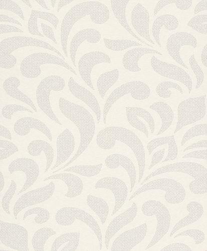 Tapete Vlies Rasch Textil Ranken weiß Glitzer 227894