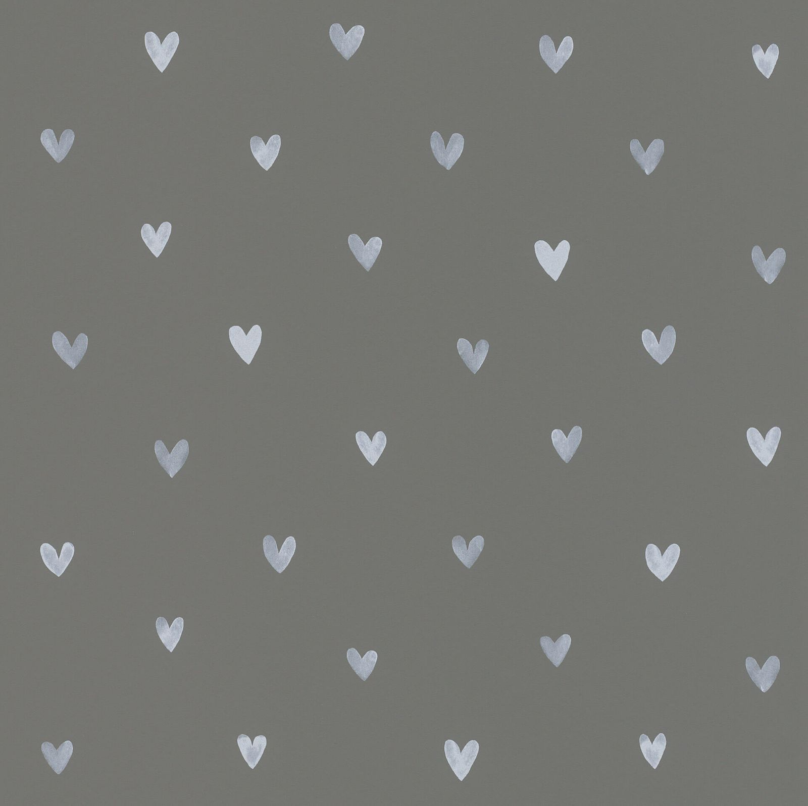 Wallpaper Child Textil Girls Cute Hearts Dark Grey 128832