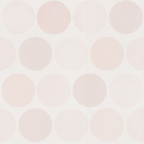 Girls Wallpaper circle design cream gloss 138857 buy online