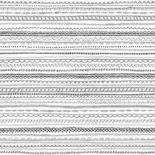 Tapete World Wide Walls Mädchen Muster weiß schwarz 138841 online kaufen