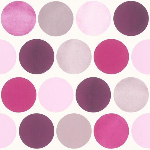Girls Wallpaper circle design purple Rasch Textil 138860 online kaufen