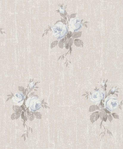 tapete vlies rosen used beige hellblau rasch 516111. Black Bedroom Furniture Sets. Home Design Ideas