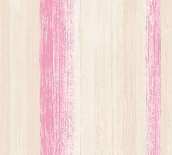 Tapete Vlies Aquarell Streifen pink creme AS Creation 34450-2 online kaufen