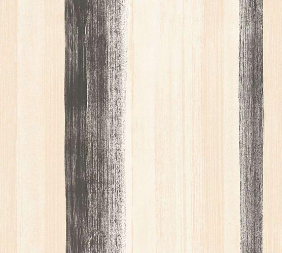 Tapete Vlies Aquarell Streifen schwarz AS Creation 34450-4