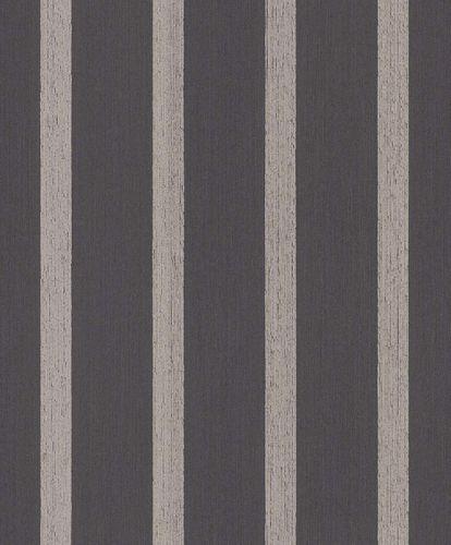 Tapete Textil Block-Gestreift Glitzer schwarz braun 077949 online kaufen
