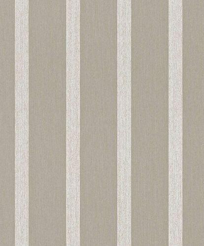 Tapete Textil Block-Gestreift Glitzer braun grau 077987 online kaufen