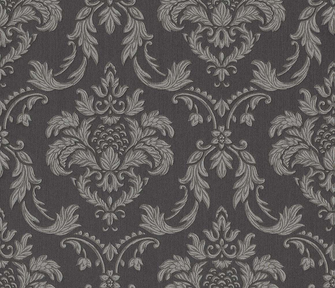 textil tapete barock anthrazit silber rasch textil 078052. Black Bedroom Furniture Sets. Home Design Ideas
