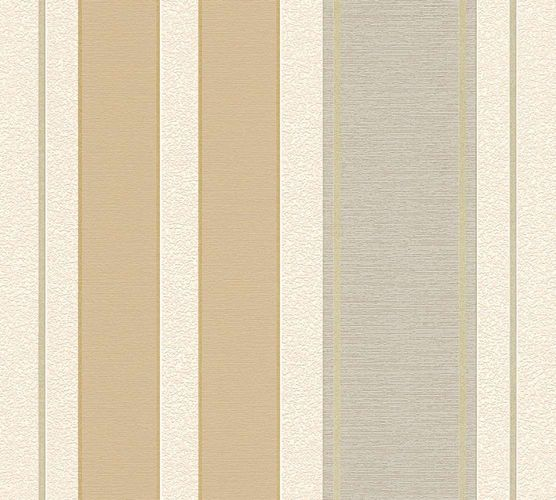 Tapete Papier Streifen cremebeige grau AS Creation 30755-3