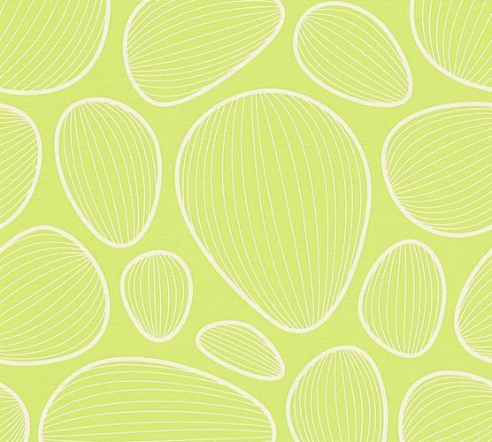 Lars Contzen Wallpaper graphics ellipse green cream 34122-4 online kaufen
