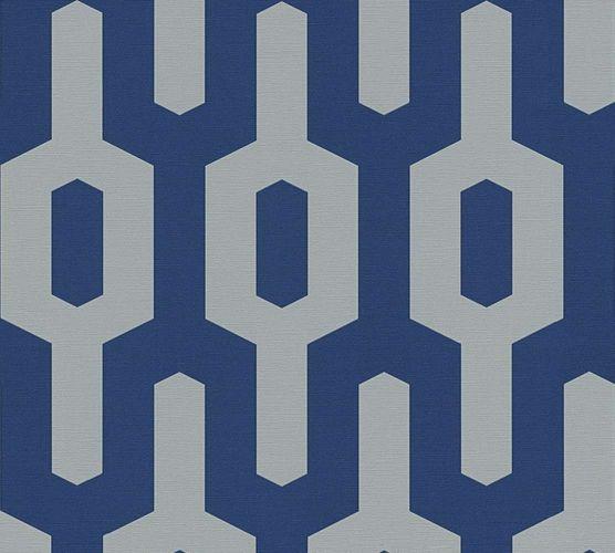 Tapete Vlies Lars Contzen Grafisch dunkelblau grau 34124-2 online kaufen