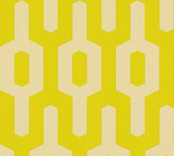 Tapete Vlies Lars Contzen Grafisch gelbgrün creme 34124-4