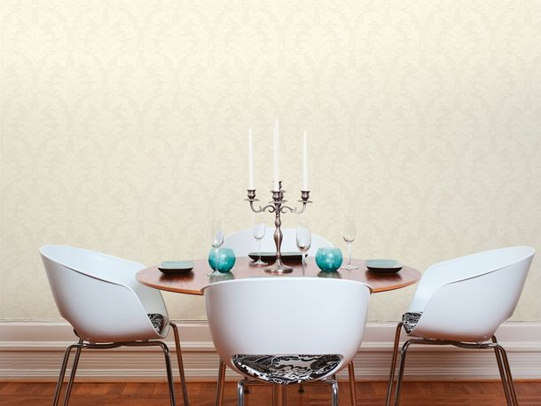 Flock Tapete Barock Floral cremebeige Architects Paper 33580-1