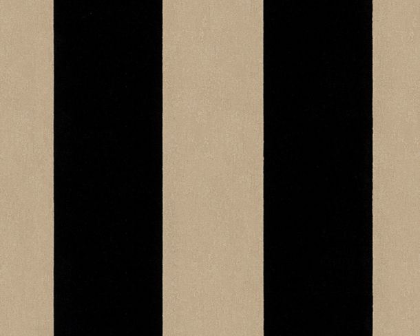 Flock wallpaper striped taupe black Architects Paper 33581-4 online kaufen