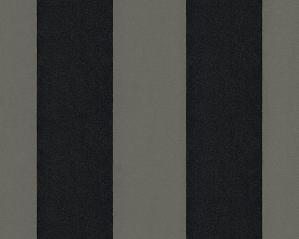 Flock wallpaper striped grey black Architects Paper 33581-5 online kaufen