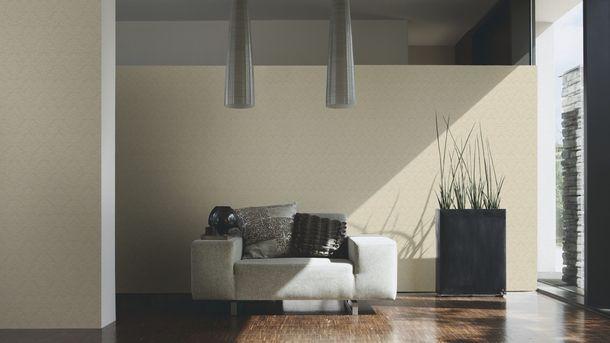 Flock Tapete Ornament beige creme Architects Paper 33582-1