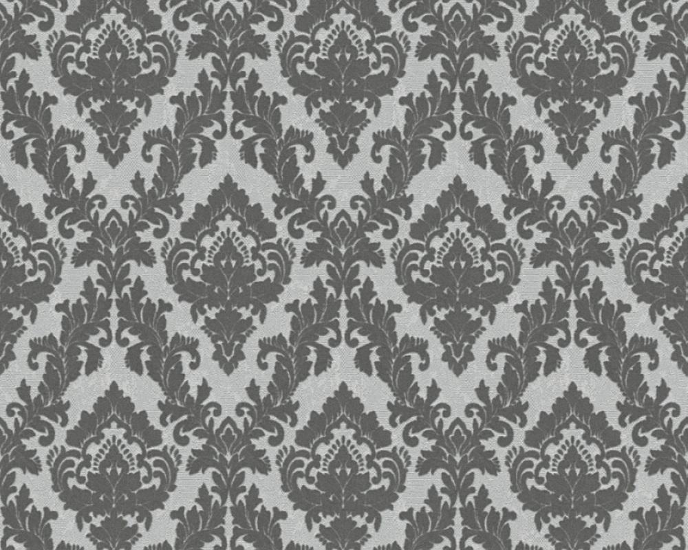 Flock Wallpaper Ornaments Grey Architects Paper 33582 3