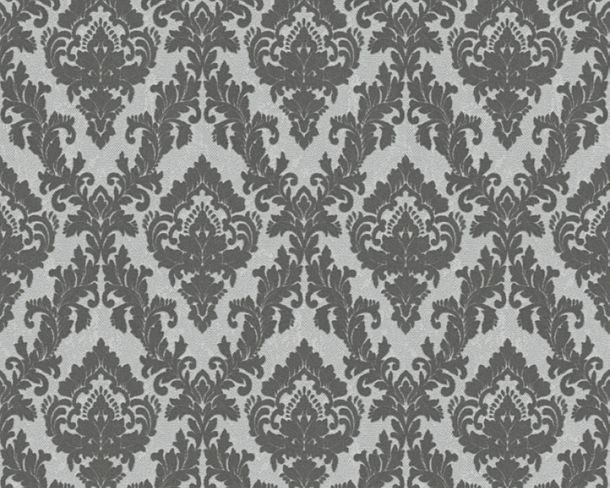 Flock wallpaper ornaments grey Architects Paper 33582-3 online kaufen