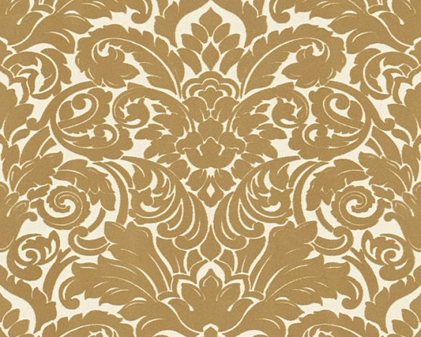 Flock Tapete Barock weiß gold Architects Paper 33583-2