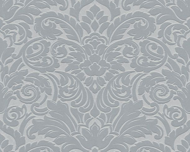 Flock wallpaper baroque silver grey Architects Paper 33583-3 online kaufen