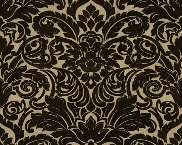Flock Tapete Barock beige Architects Paper 33583-4