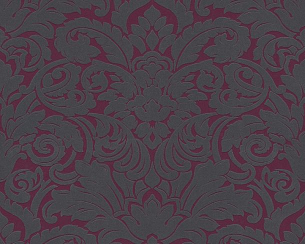 Flock wallpaper baroque berry grey Architects Paper 33583-5 online kaufen