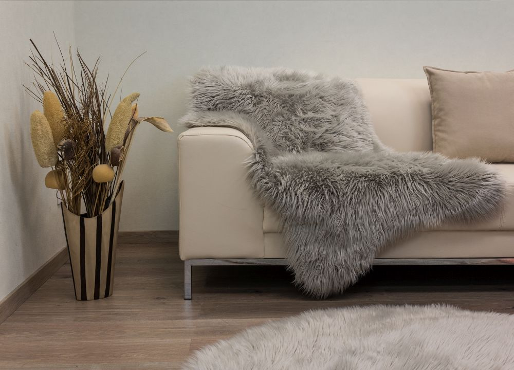 Sheepskin Carpet Rug Fluffy Sheep Skin Carpet Mat