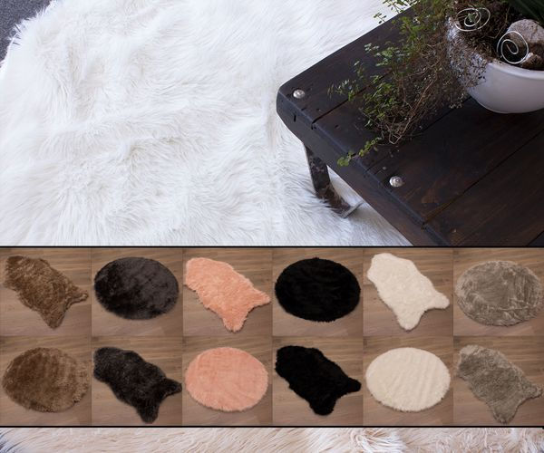 Sheepskin Carpet Rug Fluffy Sheep Skin Carpet Mat Imitation Fur online kaufen