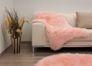 Schaffell Teppich Kunstfell Teppich Lammfell Fellteppich Schaffell Bettvorleger pink Raumbild 7