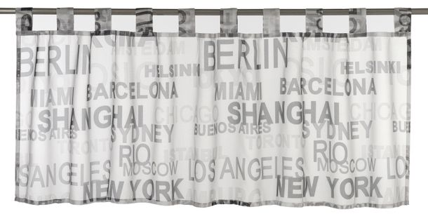 Half Drape transparent City lettering black white 198800 online kaufen