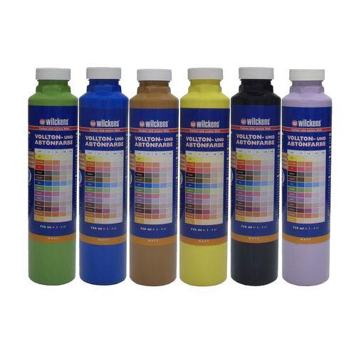 Abtönfarbe Volltonfarbe Wilckens Mischfarbe 6 Farben 750ml