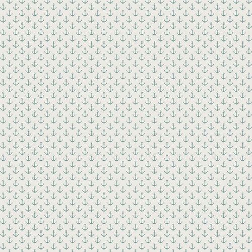 Tapete Vlies Rasch Textil Anker weiß türkis 021009 online kaufen
