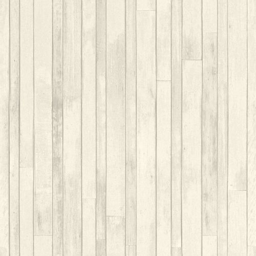 Vliestapete World Wide Walls Holz-Optik Planken grau 128836