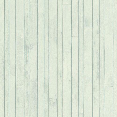 Vliestapete Holz-Optik Planken türkis 128837