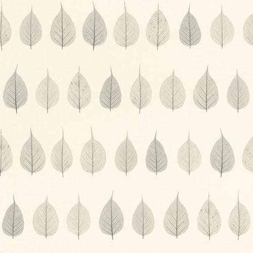 Vliestapete Blätter Floral weiß grau 128846