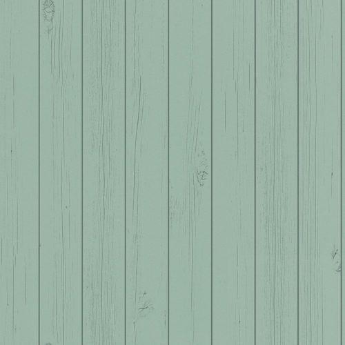 Vliestapete Holz-Optik Bretter hellgrün 128852