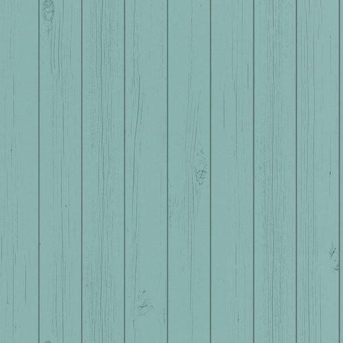 Vliestapete Holz-Optik Bretter grünblau 128855