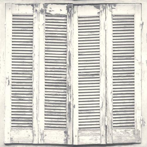 Vliestapete Shabby Chic Fensterläden weiß grau 138882 online kaufen