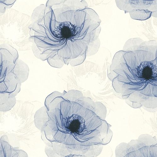 Wallpaper bloom floral white blue AS Creation 34274-1
