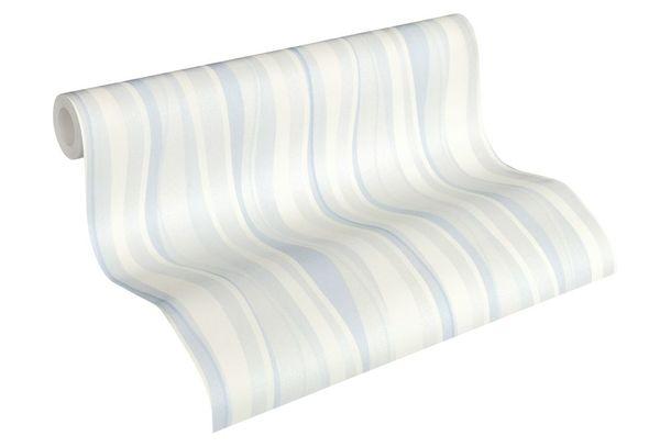 Tapete Vlies Streifen cremeweiß blau AS Creation 34275-1