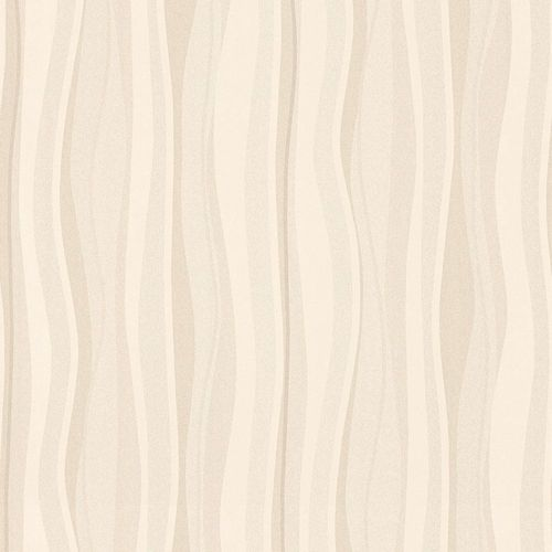 Wallpaper stripes cream taupe AS Creation 34275-3