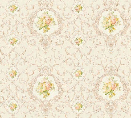 Wallpaper tendril cream white gloss AS Creation 34391-4