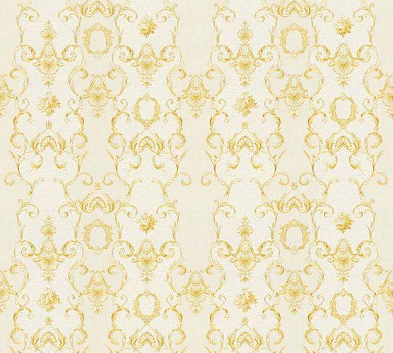 Wallpaper tendril cream white gloss AS Creation 34392-1
